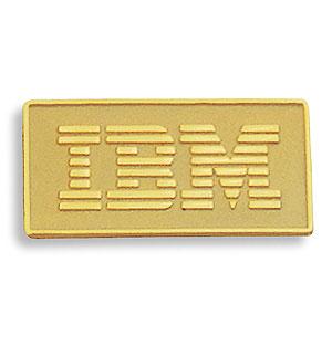 IBM 金色 ピンバッチ