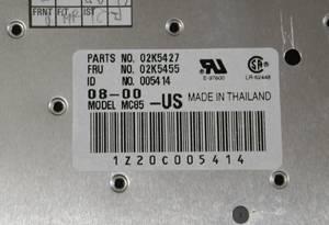 ThinkPadA21m A21p A22m A22p専用 JPキーボード02K5430