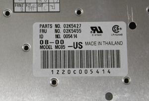 ThinkPadA21m A21p A22m A22p専用 USキーボード02K5455