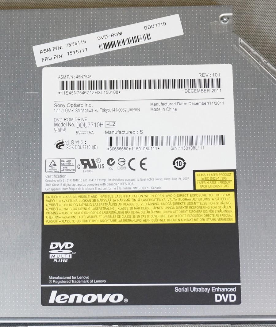 T420 420i T430引き抜き品 DVDドライブベゼル無し