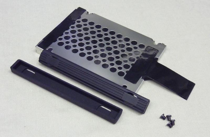 HDDキャディー9.5mm+ゴムレール9.5mm+ネジ4本 社外品中古