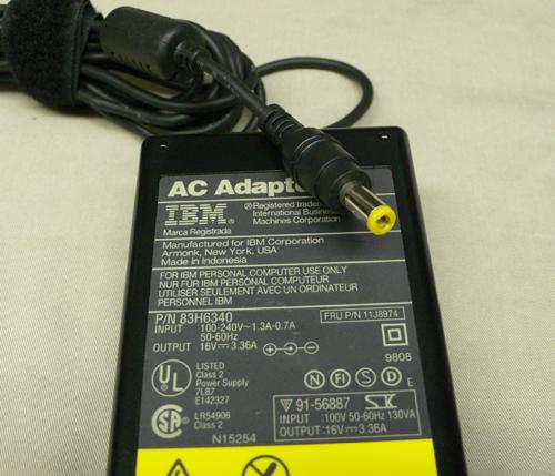 ThinkPad用ACアダプタ 56W型 丸型 中古